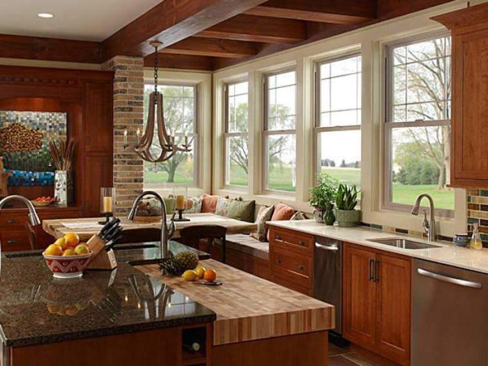Окно на кухне под рабочую зону