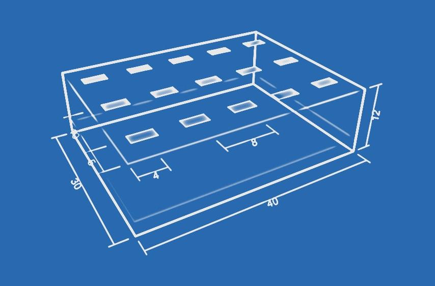 Расчет освещения помещения с учетом площади