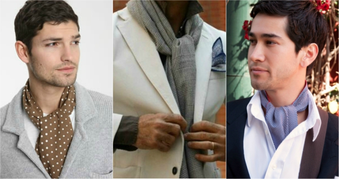 ways to tie a man's scarf