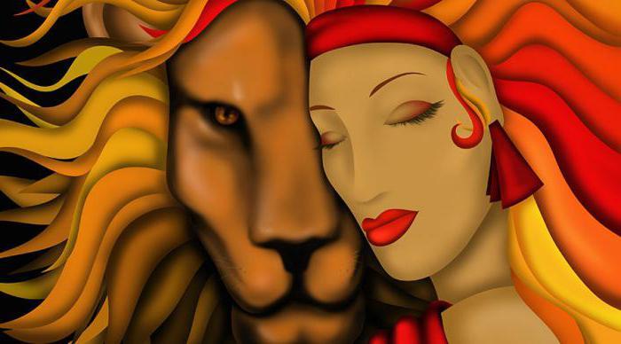 пара он и она под знаком льва