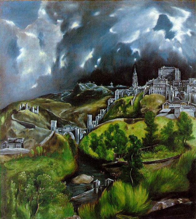 """View of Toledo"" by El Greco – one of the first European landscape"