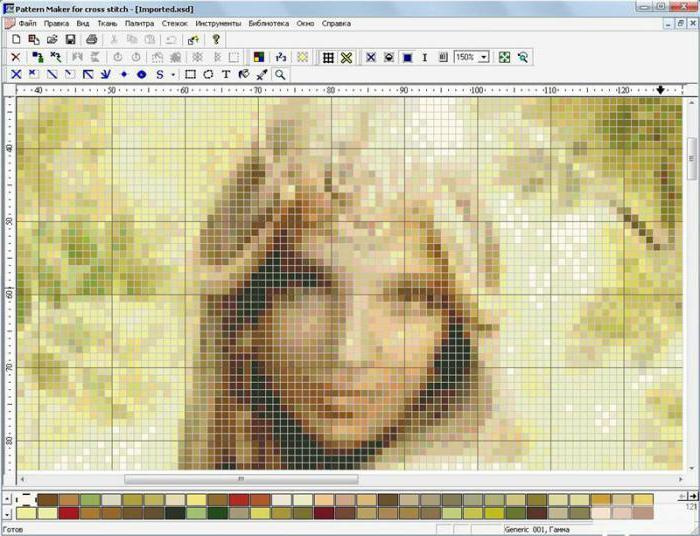 Программа для создания схем вышивки крестом