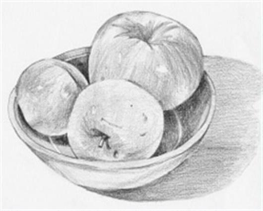 "Still life ""Apples"" with different objects"