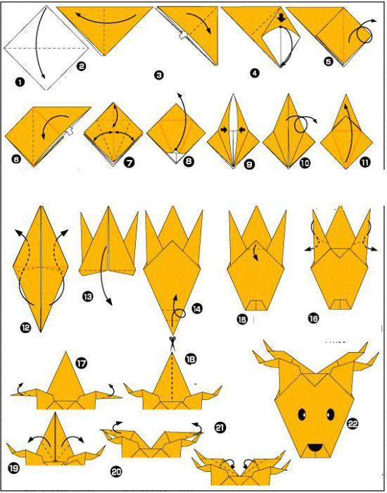 Как сделать олень из бумаги