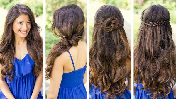 красивые прически на длинные волосы за 5 минут
