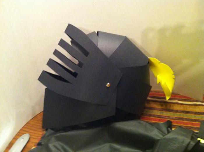 сделать из бумаги шлем богатыря