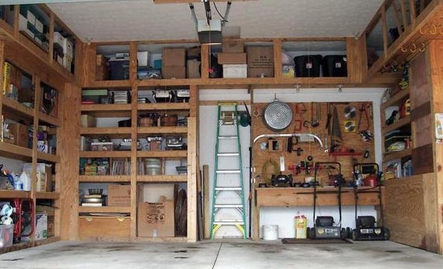 Варианты стеллажей в гараже