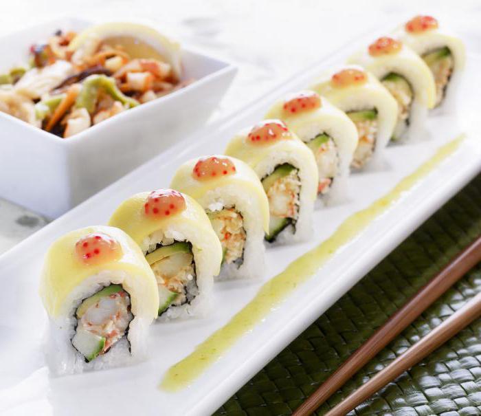 названия суши и роллов