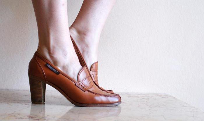 лоферы на каблуках