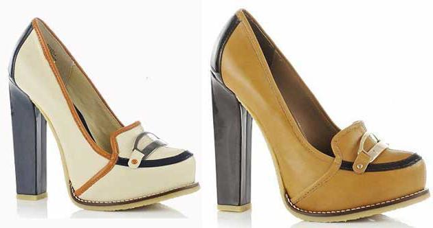 лоферы женские на каблуке