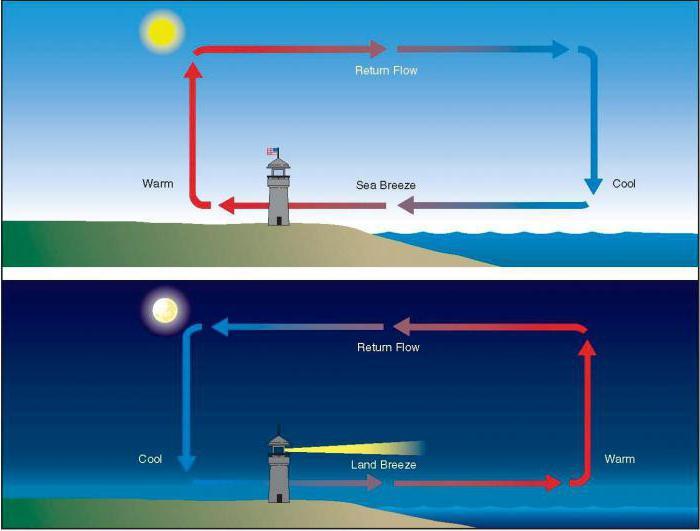причина движения воздуха в атмосфере неравномерное распределение тепла