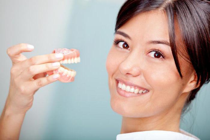 съемные протезы при полном отсутствии зубов