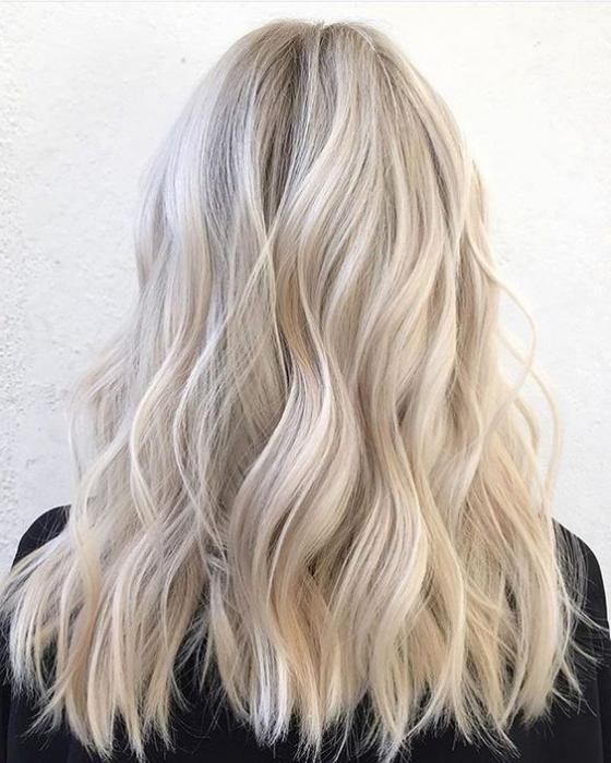 Светлые волосы без желтизны фото