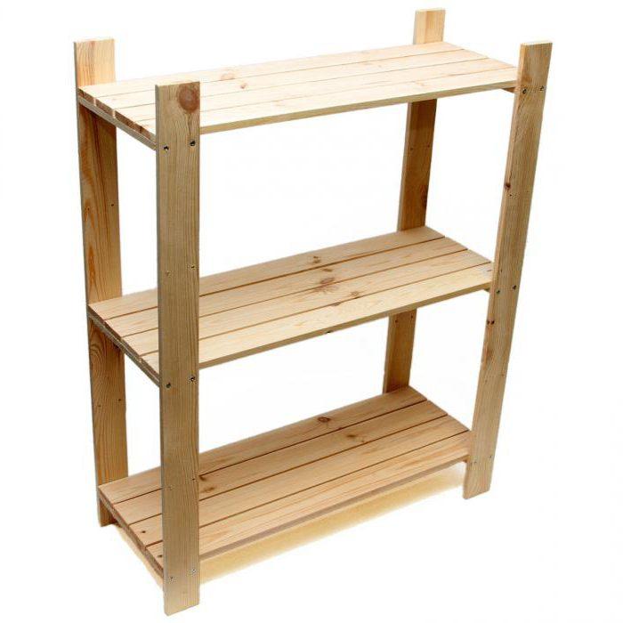 деревянный стеллаж своими руками