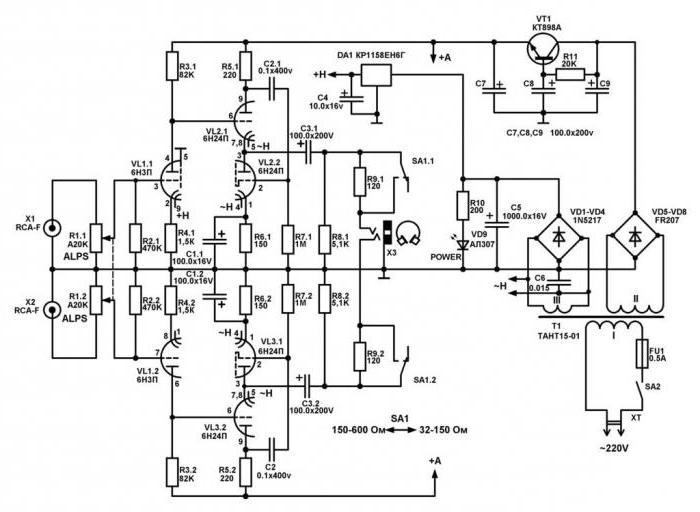 схемы ламповых усилителей