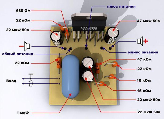 TDA7294 схема усилителя мощности