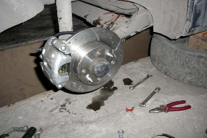 тормоза дисковые задние на ваз 2114