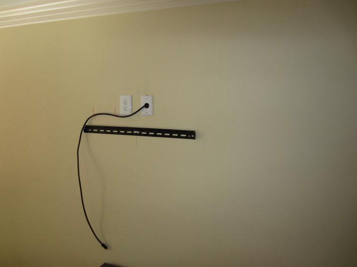 телевизор на стене как спрятать провода