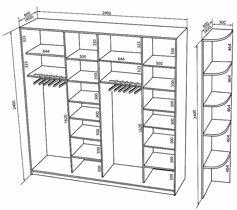 радиусные шкафы купе