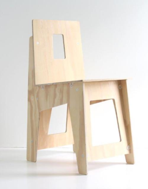 do-it-yourself plywood chair drawings