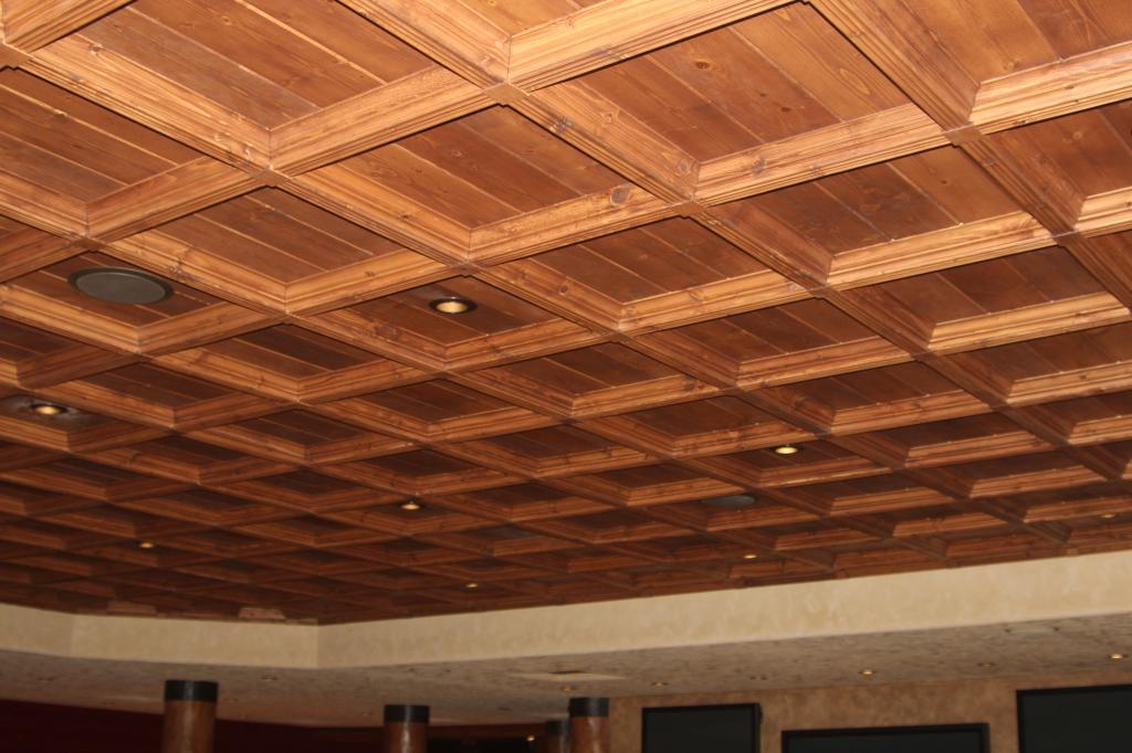 ceiling from boards photo