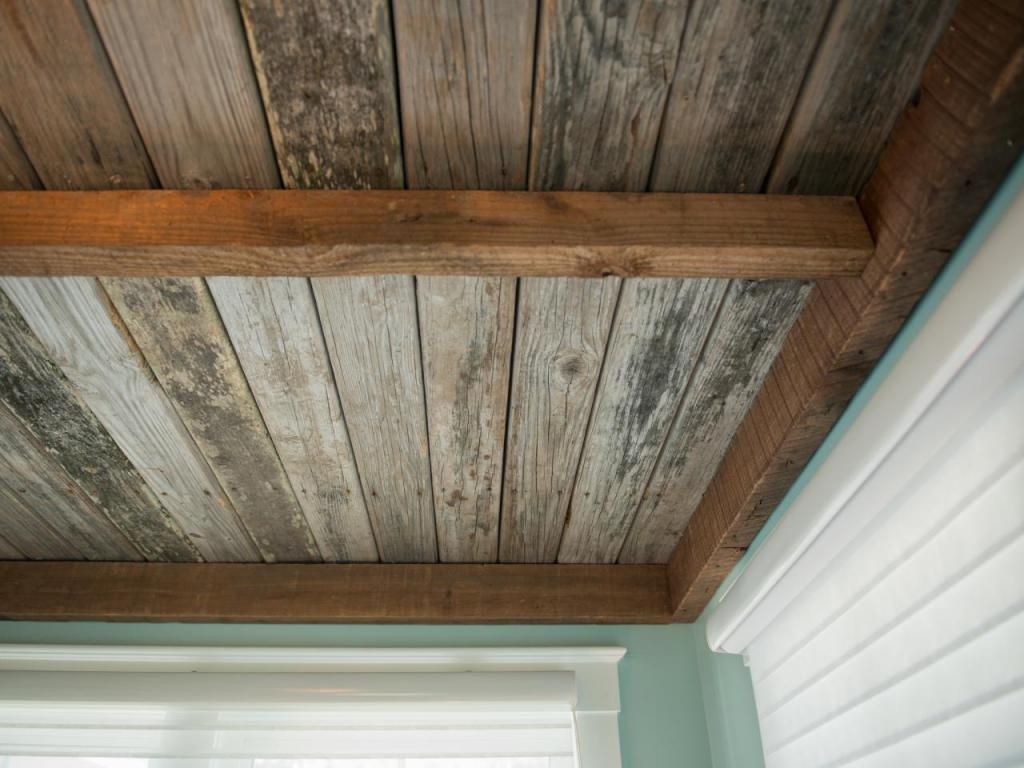 do-it-yourself ceiling of boards