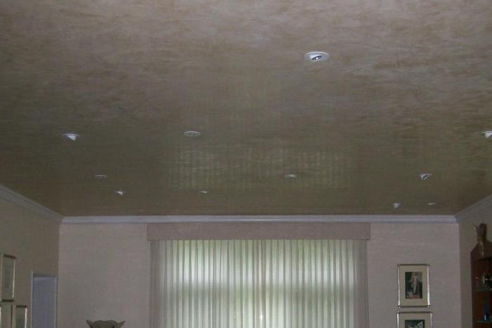отделка потолка декоративной штукатуркой фото