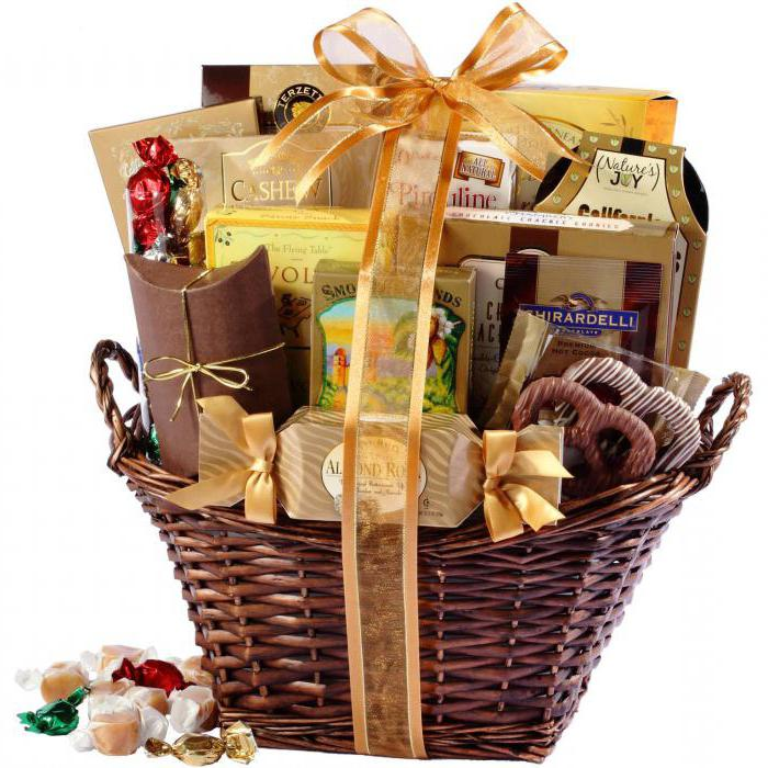 Подарочная корзина продуктовая