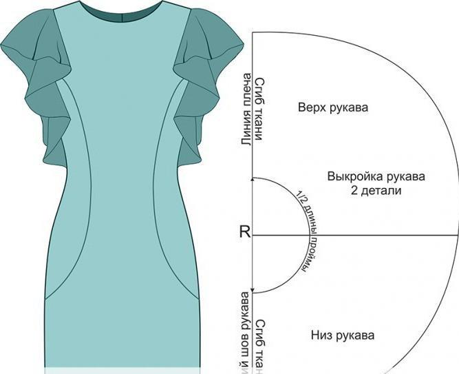 Как сшить платье с рукавами и с подкладом