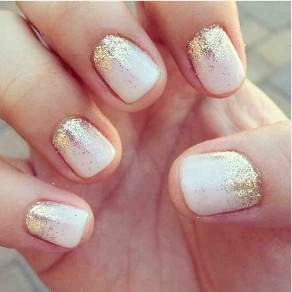 the use of golden sparkles