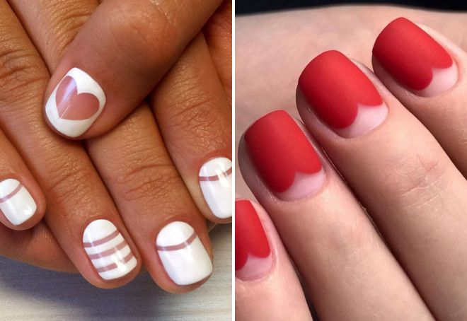 red and white manicure