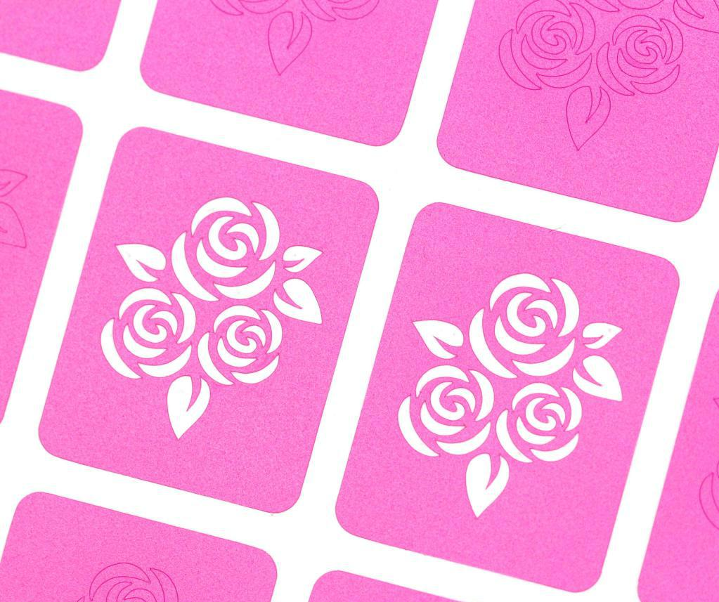 stencils for roses