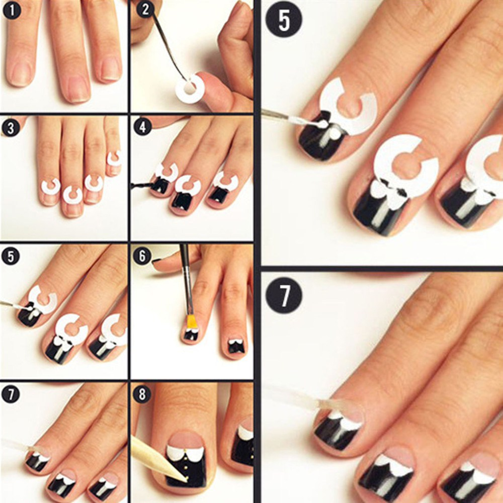 stencils for moon manicure