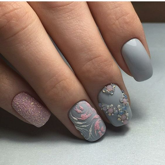 gray pink design