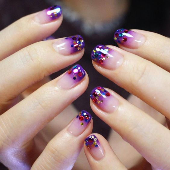 manicure with sparkles