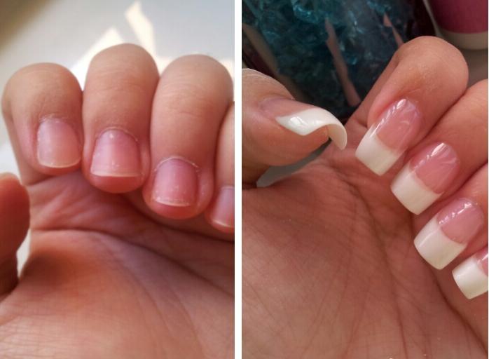Наращивание искусственных ногтей с помощью типсов