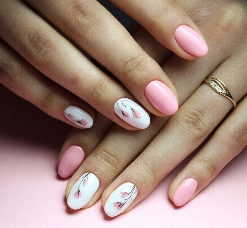 нежный рисунок на ногтях фото сайт