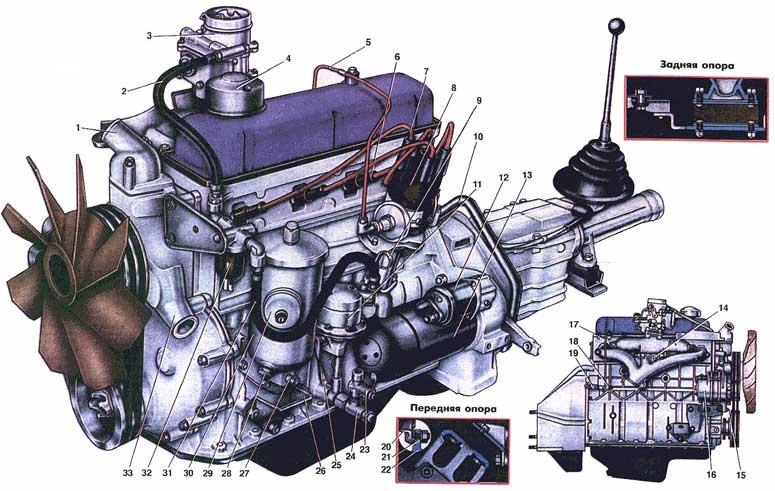Схема ЗМЗ-24Д