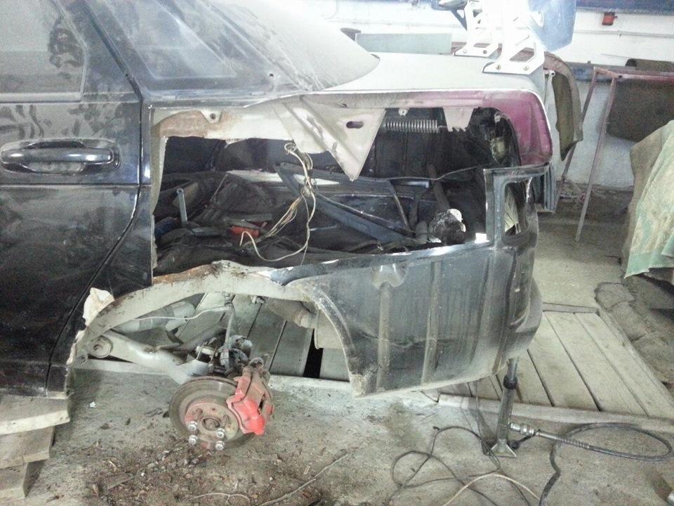 Процесс замены заднего крыла ВАЗ 2110