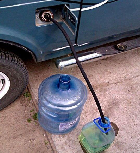 Слив бензина через топливную горловину ВАЗ
