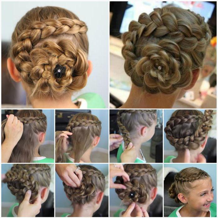 красивая коса девочке