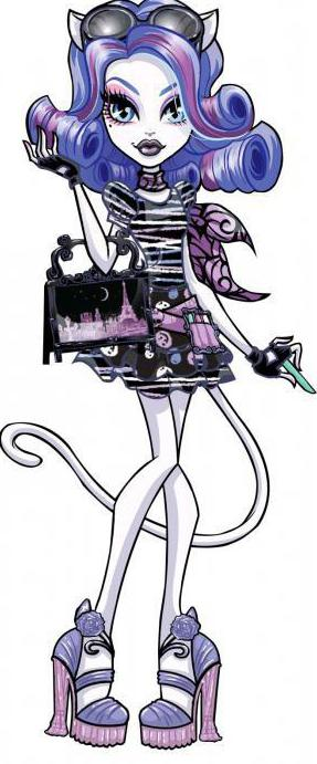 How to draw Monster high Catherine de meow gradually and without problems