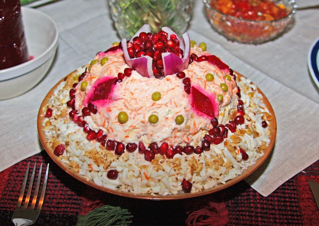 Картинка салат шапка мономаха