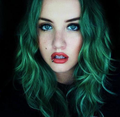 Краска для волос зелёная