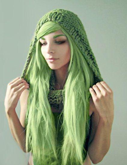 Зеленая краска для волос: какую выбрать?