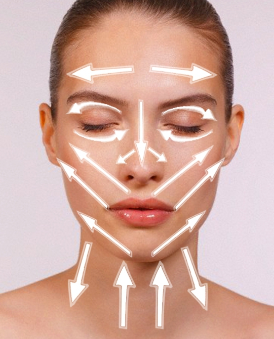 massage lines for applying tonal coats