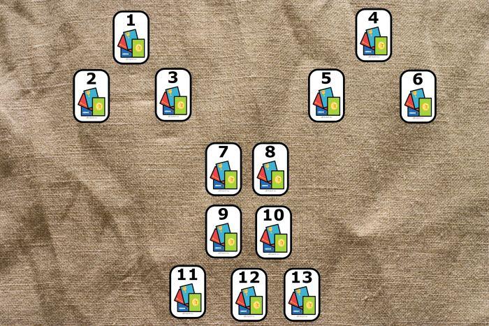 Three tarot layout