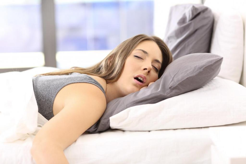 why during sleep, drooling from the mouth of an adult