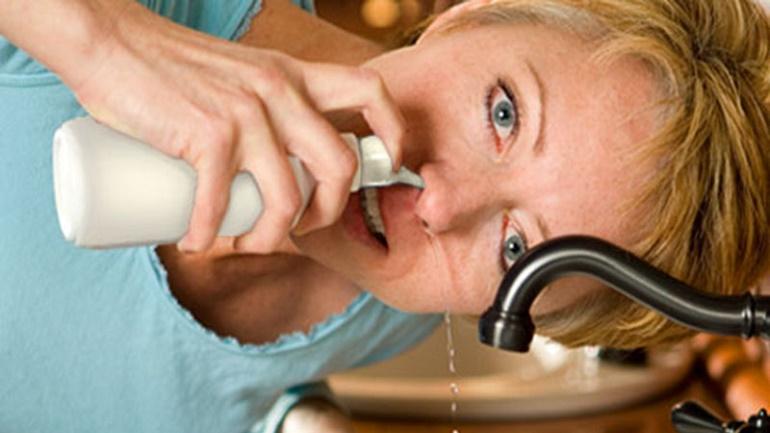 промывать нос содой ребенку