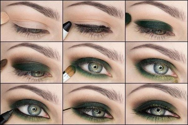 дымчатый макияж глаз пошаговая инструкция фото